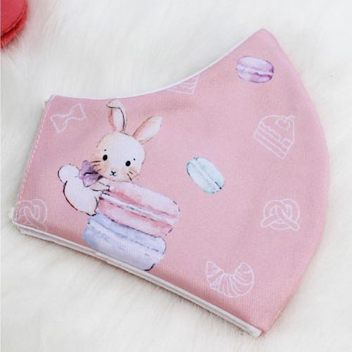 Foto Produk Masker kain katun bamboo 3ply motif mici bunny anak dari mabelleid