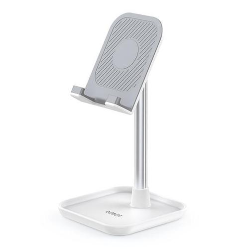 Foto Produk ROBOT Aluminium Alloy Stand for Smartphone / Tablet - RT-US04 - Putih dari JONAEL