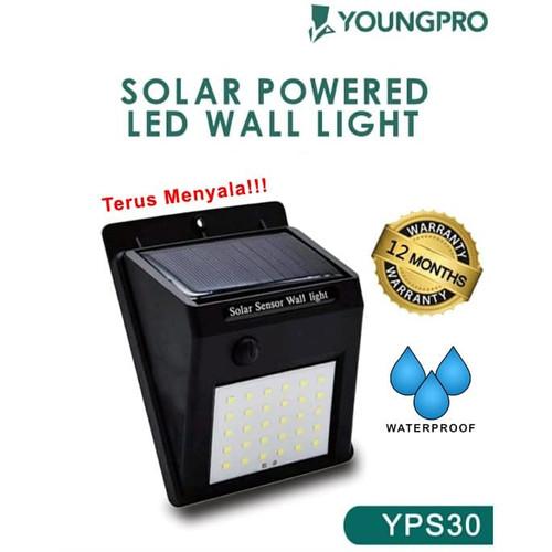 Foto Produk Lampu Dinding Tenaga Solar - Lampu Taman 30 LED Tenaga Surya No Sensor - 1 mode terang dari YOUNGPRO INDONESIA