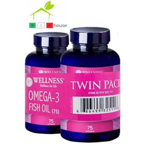 Foto Produk Wellness Omega 3 Fish Oil 75 BANDED Buy 1 Get 1 dari Wizhouse