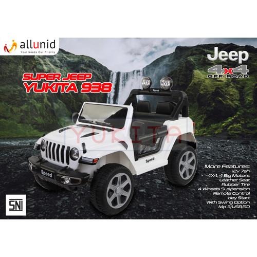 Foto Produk Mobil Aki Jeep YUKITA 938 - 12 Volt - Putih dari allunid store