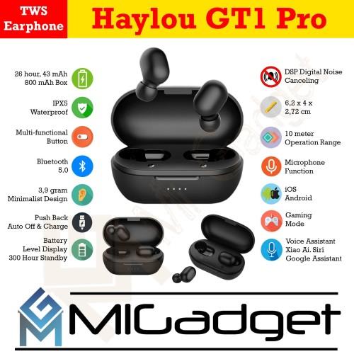 Foto Produk Xiaomi Haylou GT1 Pro TWS Bluetooth 5.0 Earbuds up to 26 Hours Battery dari Mi Gadget