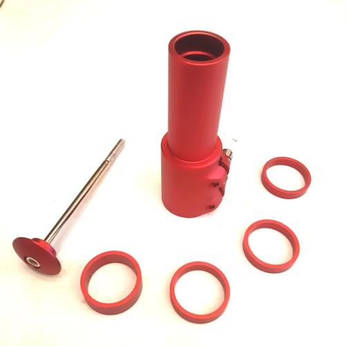 Foto Produk extender fork atau adapter peninggi stem merah anodize dari farras bikes