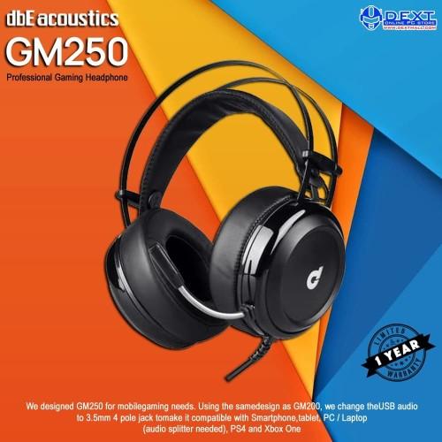 Foto Produk dbE Acoustics GM250 Pro Gaming Headphone dengan 3.5mm Jack dari DextMall