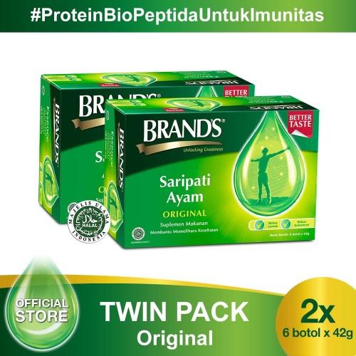 Foto Produk Twin Pack BRAND'S Saripati Ayam Original 42 Gr (isi 12 botol) dari Brand's Official