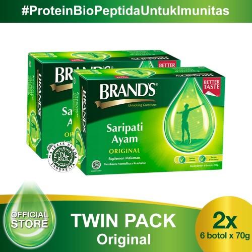 Foto Produk Twin Pack BRAND'S Saripati Ayam Original 70 Gr (isi 12 botol) dari Brand's Official