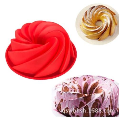 Foto Produk Cetakan silicone bolu puding kue loyang silikon blade tahan panas dari Quishop