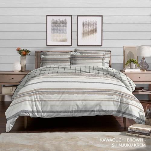 Foto Produk King Rabbit Bed Cover Ukuran Double 230x230 cm Bambu Kawaguchi Brown dari King Rabbit Official