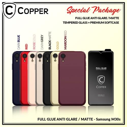 Foto Produk Samsung M30s - Paket Bundling Tempered Glass Glare dan Softcase dari Copper Indonesia