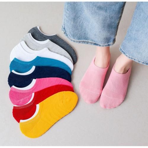 Foto Produk KK035 Kaos Kaki Wanita Handuk Colorfull - Orange dari EnnWen Online Store