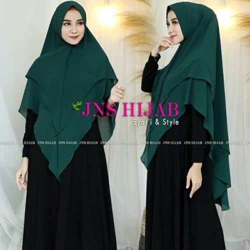 Foto Produk KHIMAR PREMIUM - Khimar 2 Layer Mat Ceruti Babydoll Import NAMIRA JNS dari DIGDAYA Grosir Hijab