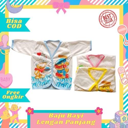 Foto Produk Baju Bayi perempuan laki-laki Atasan Lengan Panjang baru lahir newborn dari Toko Bayi Hanifah