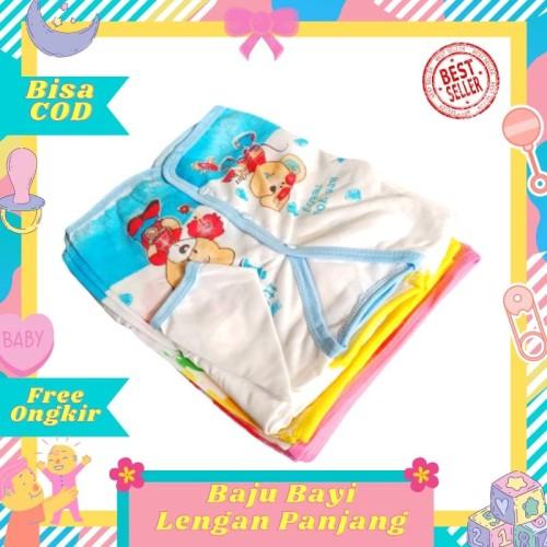 Foto Produk 1 Lusin / 12 pcs Baju Bayi Lengan Panjang baru lahir newborn murah dari Toko Bayi Hanifah