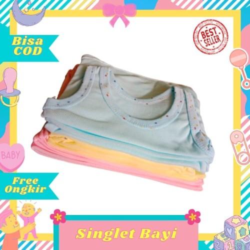Foto Produk 1 lusin / 12pcs kaos dalam bayi / singlet bayi / anak warna size S dari Toko Bayi Hanifah