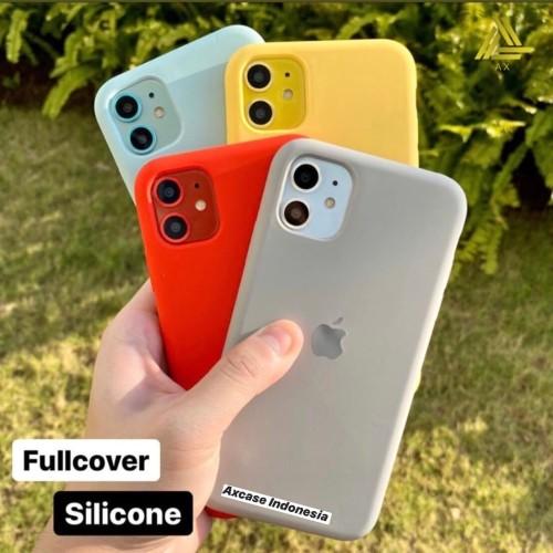 Foto Produk Premium Silicone Case iPhone 11 Softcase Polos Casing FULL COVER - Blue dari Axcase Indonesia