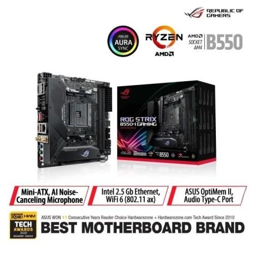 Foto Produk ASUS ROG Strix B550-I Gaming AMD AM4 B550 ATX Gaming Motherboard dari Asus Component