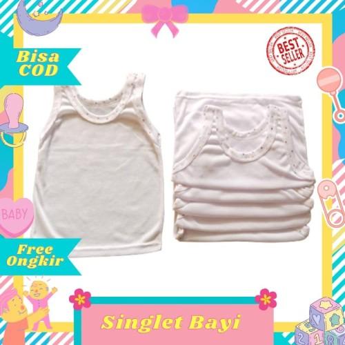 Foto Produk 12 pcs / 1 Lusin Kaos Dalam /Singlet Anak Bayi Putih size M 6-12 bulan dari Toko Bayi Hanifah