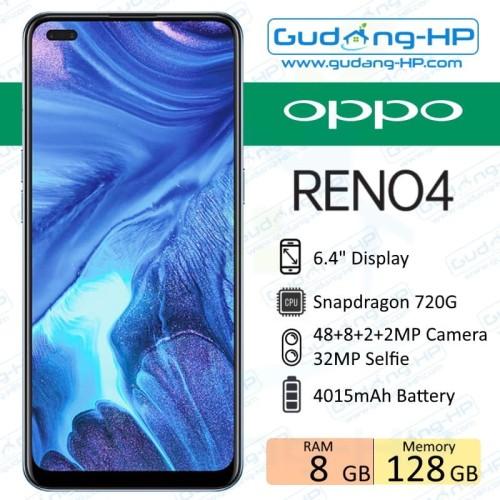 Foto Produk Oppo Reno 4 8/128 GB Garansi Resmi - Hitam dari Gudang-HP