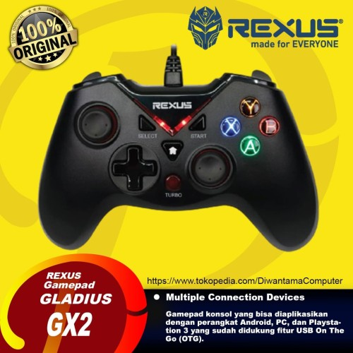 Foto Produk Rexus Gladius GX2 Pro Stick Gaming Gamepad Controller USB Joystick dari Diwantama Computer