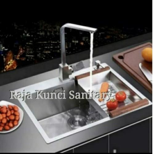 Foto Produk Kitchen Sink 6045 / Bak Cuci Piring Stainless Steel Tebal dari Raja Kunci Sanitary