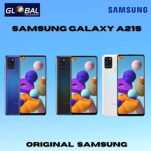 Foto Produk Samsung Galaxy A21s Smartphone (3GB/32GB) - Biru, Ram3 Rom32 dari Global Teleshop
