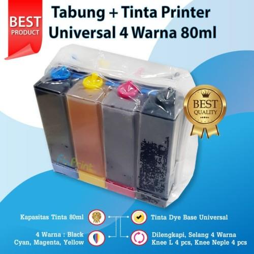 Foto Produk Tabung Infus + Tinta Printer Canon, Epson, Brother, Universal Ink 80ml dari FixPrint Jakarta