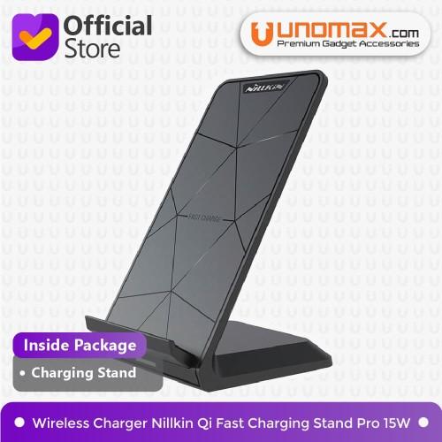 Foto Produk Wireless Charger Nillkin Qi Fast Charging Stand Pro 15W - Hitam dari unomax