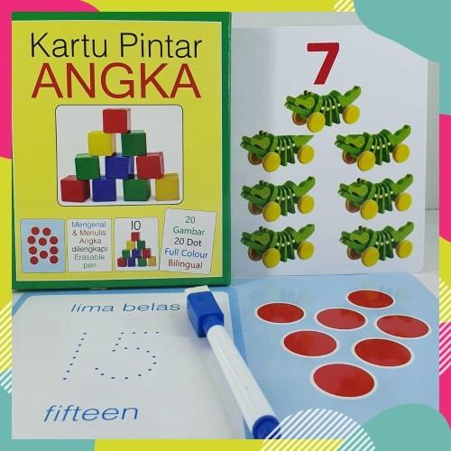 Foto Produk Flash Card Angka - Kartu Pintar Belajar Angka TK PAUD dari Kinantikomik