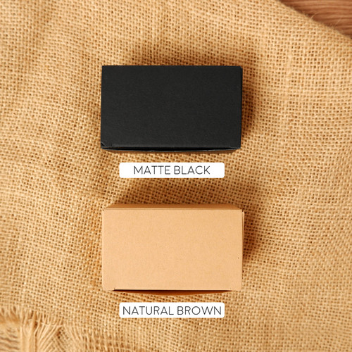 Foto Produk Blank Kraft Paper Card Set / Memo / Notes - Matte Black dari Pinkabulous