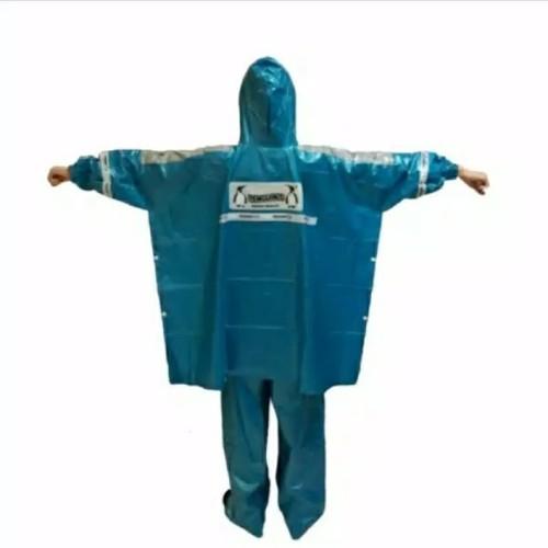 Foto Produk Grosir jas hujan penguin penguins kombinasi 369 ponco lengan + celana - Hijau dari maju jaya utama'