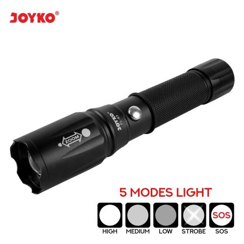Foto Produk Rechargeable LED Flashlight / Senter LED Isi Ulang Joyko FL-83 dari JOYKO Official