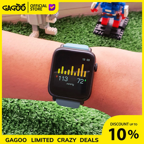 Foto Produk Smartwatch Pulse Oximeter [ORIGINAL] Thermometer - Goodeva Watch G1 - Brilliant Tosca dari Gagoo Official Store