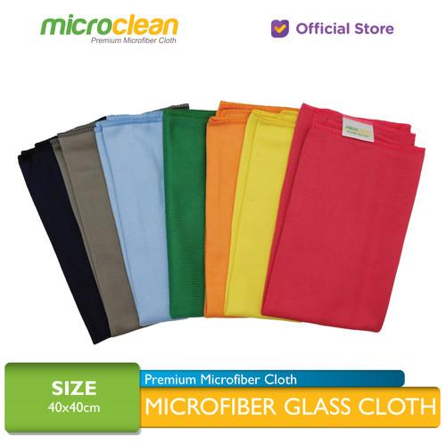 Foto Produk MICROCLEAN Microfiber Glass Cloth / Kain Lap Kaca 40x40cm [Soft Blue] - Biru Muda, 40x40 dari Microfiber Indonesia