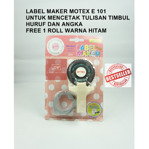 Foto Produk MOTEX dymo embossing label maker - Putih dari SINAR_MUTIARA