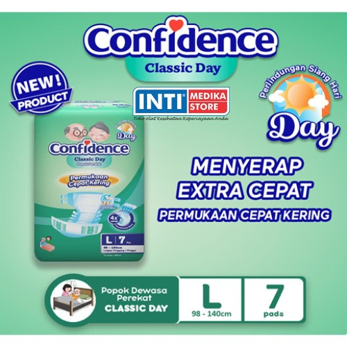 Foto Produk CONFIDENCE - Classic Day L 7 / Popok Perekat Dewasa / Adult Diapers dari INTI MEDIKA STORE