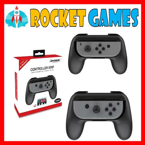 Foto Produk Nintendo switch controller grip DOBE - DOUBLE BLACK dari Rocket games