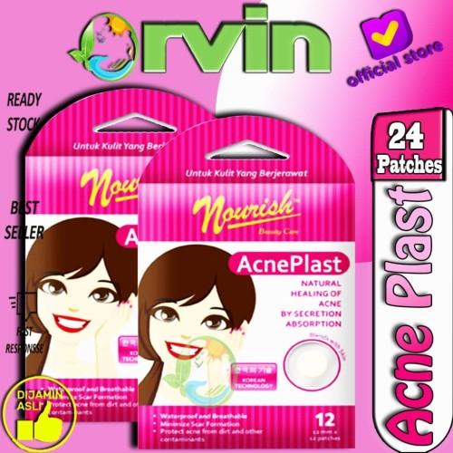Foto Produk Nourish Acne Plast Girl 2 Pack,Penutup Jerawat,Plester Jerawat dari Orvin Health & Beauty
