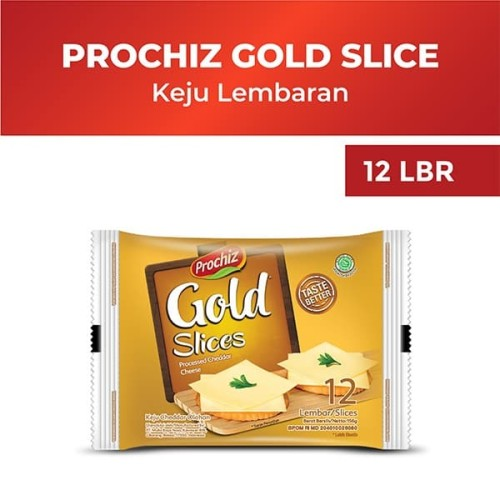 Foto Produk Prochiz Gold Cheddar Slices 12'S dari Diamond Supermarket