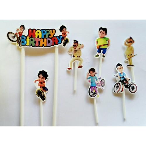 Foto Produk topper tusukan hiasan kue cake ulang tahun birthday karakter shiva dari reanolshoop