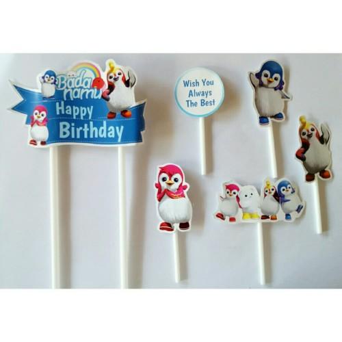 Foto Produk topper tusukan hiasan kue cake ulang tahun birthday karakter bada namu dari reanolshoop