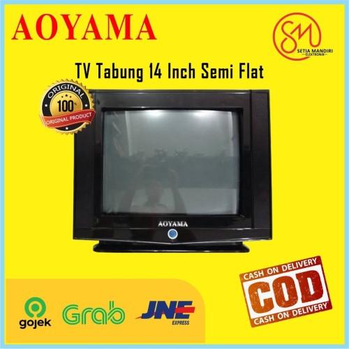 Foto Produk AOYAMA TV Tabung 14 Inch Semi Flat - Cembung - 60 Watt - RCA - TANPA BUBBLE dari Setia Mandiri Elektronik