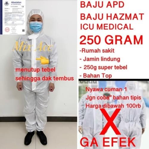 Foto Produk Baju APD MEDIS / Baju Perawat Rumah Sakit 888 - Varian XXL190cm dari Mix acc88