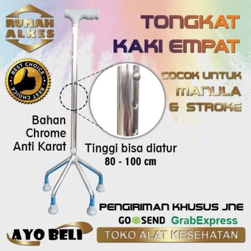 Foto Produk Kruk Tongkat kaki 4 (Cocok untuk stroke atau manula) dari Rumah Alkes Kita