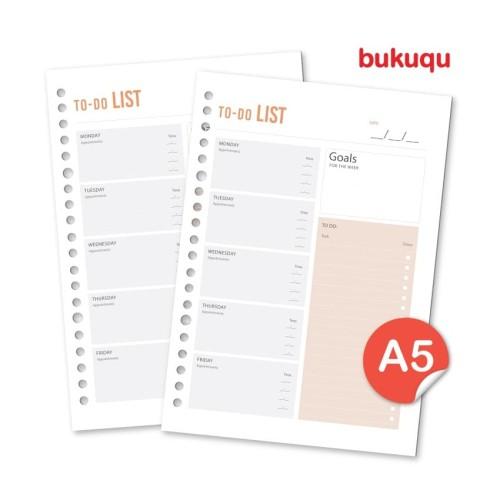 Foto Produk A5 Loose leaf - To Do List by Bukuqu dari Bukuqu