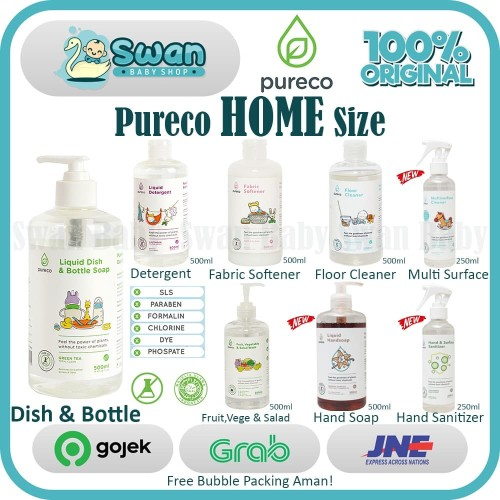Foto Produk Pureco HOME Size 500ml - Floor Cleaner dari Swan Baby Shop