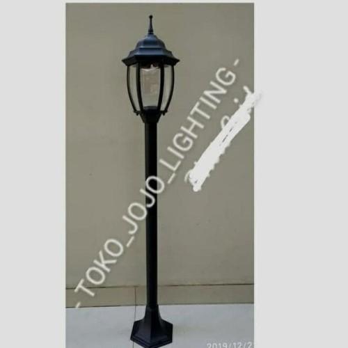 Jual Lampu Taman Tiang 6018 N A Hitam Jakarta Pusat Loli Mulya Tokopedia