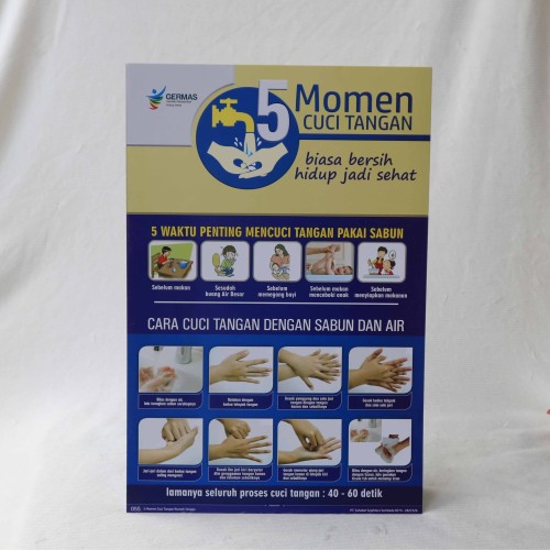 Foto Produk Poster 5 Momen Cuci Tangan Versi Pasien dari Syafana