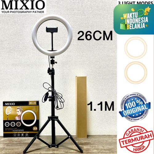 Foto Produk Ring Light 26cm + Light Stand Tripod 1.1M Selfie Vlogger Livestreamer - NO TAS dari Mix acc88