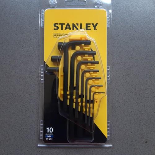 Foto Produk Kunci L Hex 10 pcs Stanley 69-253 Metric Hex Key Set Black dari VINS TEKNIK