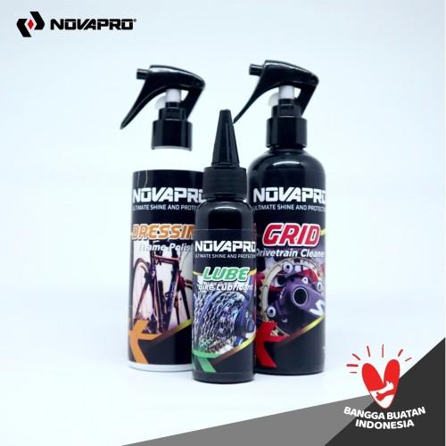 Foto Produk 3IN1 Paket Perawatan Sepeda NOVAPRO (GRID, LUBE & DRESSING) dari NOVAPRO Indonesia